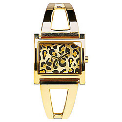 Ladies Leopard Dial Watch
