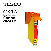 Tesco CLI521 Yellow Printer Ink Cartridge (for Canon CLI-521)