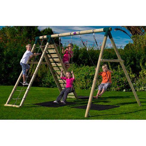 Plum Uakari Wooden Garden Swing Set