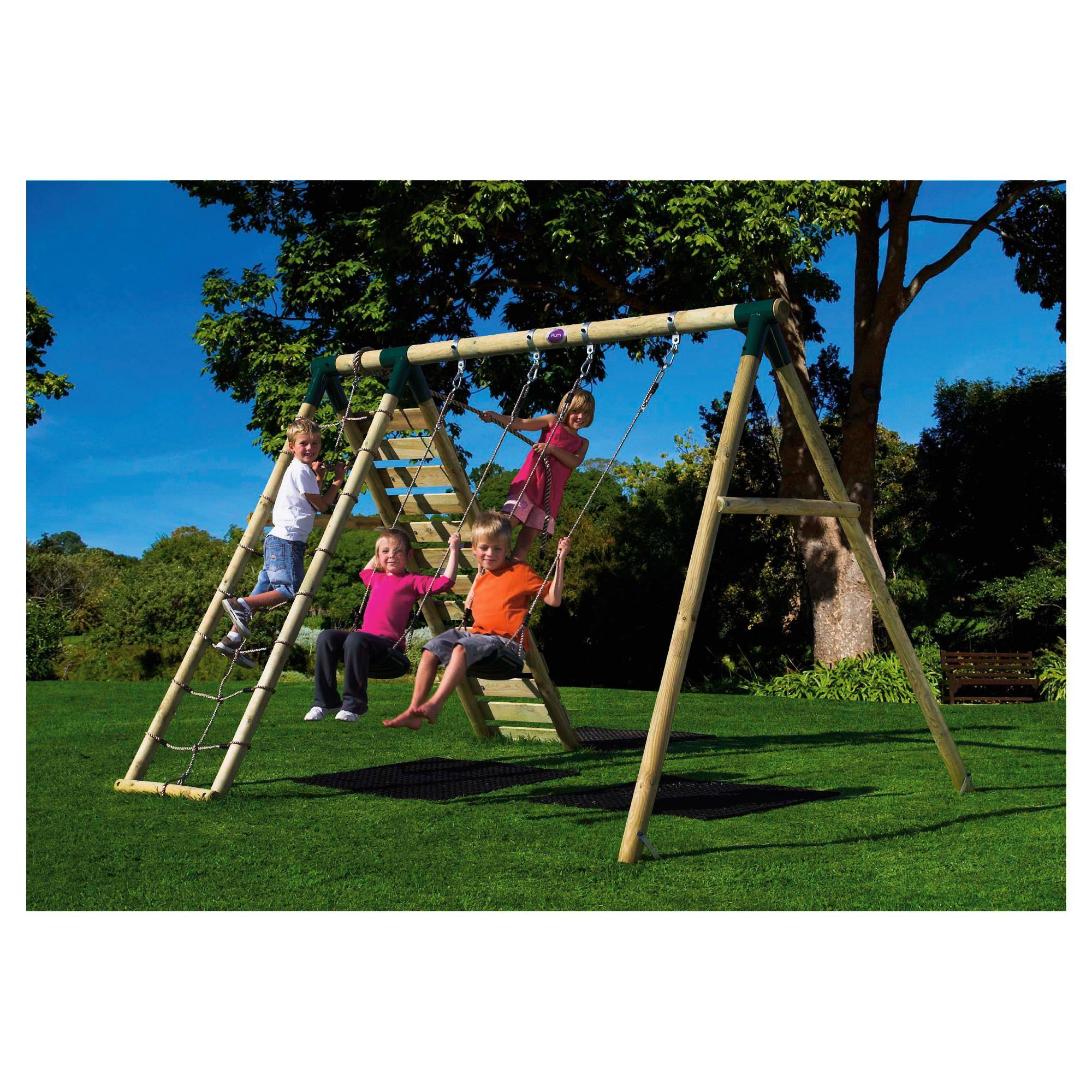 Plum Uakari Wooden Garden Swing Set at Tesco Direct