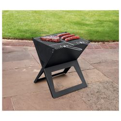 Notebook charcoal bbq with carry bag