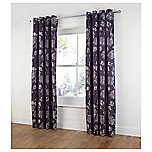 "Tesco Ava Jacquard Lined Eyelet Curtains W162xL229cm (64x90""), Plum"