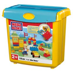 Mega Bloks Mini Bloks Scoop n Build Bucket Only One Supplied
