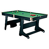 BCE 6ft Vertical Folding Snooker/ Pool Table with Dartboard