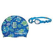 Speedo Sea Squad Goggles & Swimming Hat Set, 2-6, Blue