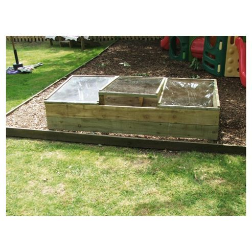 Raised 180x90cm cold frame