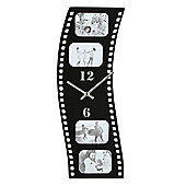 Hometime Wall Clock with Film Strip Style