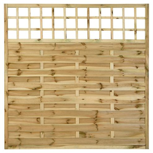 Timberdale 1.8mx1.8m Square Pembroke 4 Screen Pack with Posts and Fixing Brackets