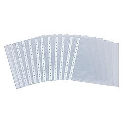 Tesco A4 Punch Pockets, 50 Pack