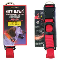Nite Dawg LED Collar Small Red