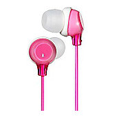 JVC Clear Colour Stereo Headphones Pink HAFX22P