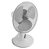 "Tesco Value 12"" plastic desk fan"