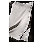 Bocasa Silver Diamante Throw