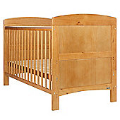 Obaby Grace 4 Piece Cot Bed Set, Country Pine Cot Bed With Cream Bedding