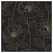 Arthouse Mystique floral black wallpaper