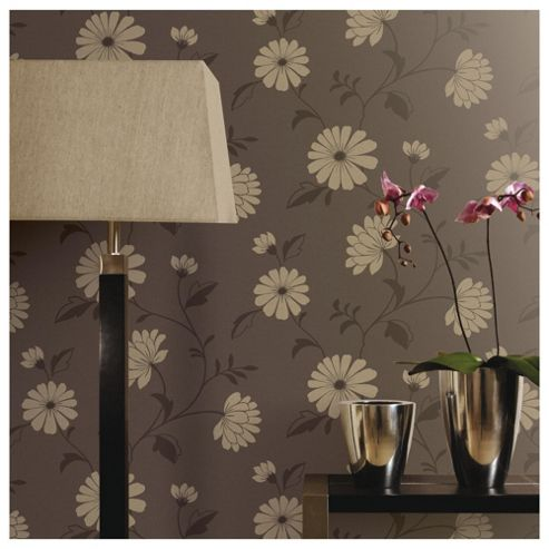 Arthouse Chelsea motif chocolate wallpaper
