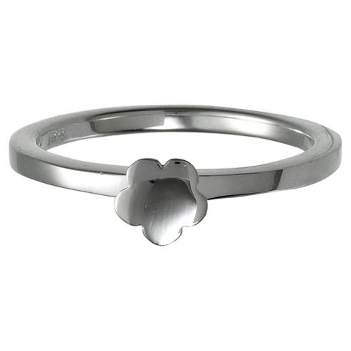 Sterling Silver Flower Stacking Ring, Large