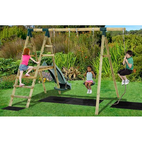 Plum Giant Baboon Wooden Garden Swing Set