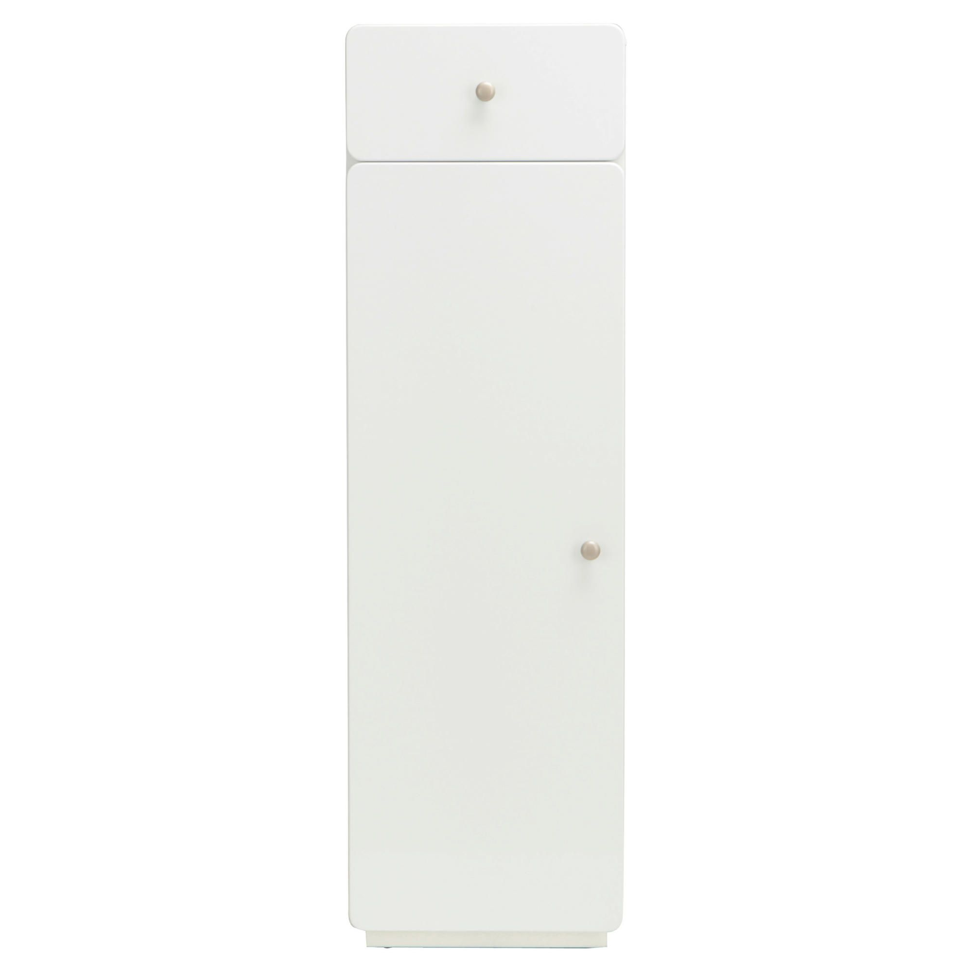 Stockholm White Gloss Unit Cabinet With Single Drawer & Door