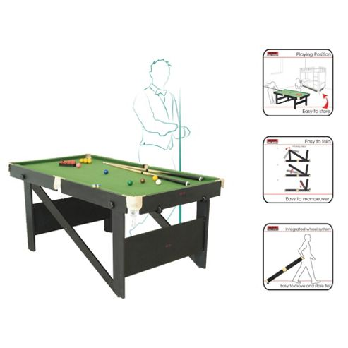 BCE 6ft Rolling, Lay Flat Snooker Table