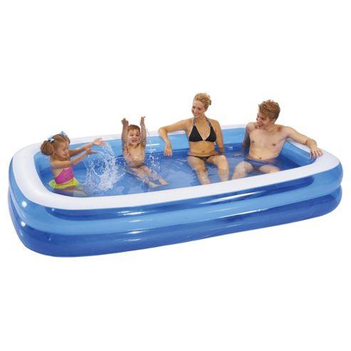 Buy tesco giant rectangular pool from our pools paddling for Garden pool tesco
