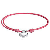 Pink Friendship Bracelet with Heart Charm..