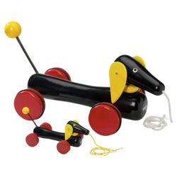 Brio Toddler Classic Large Dachshund Dog Pull Along, wooden toy
