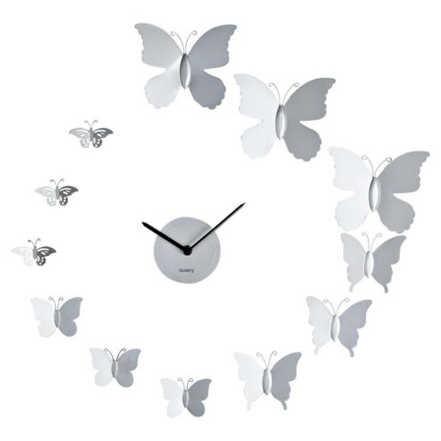 Tesco Clocks Butterfly Wall Clock
