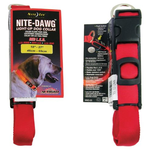 Nite Dawg Collar Large Red