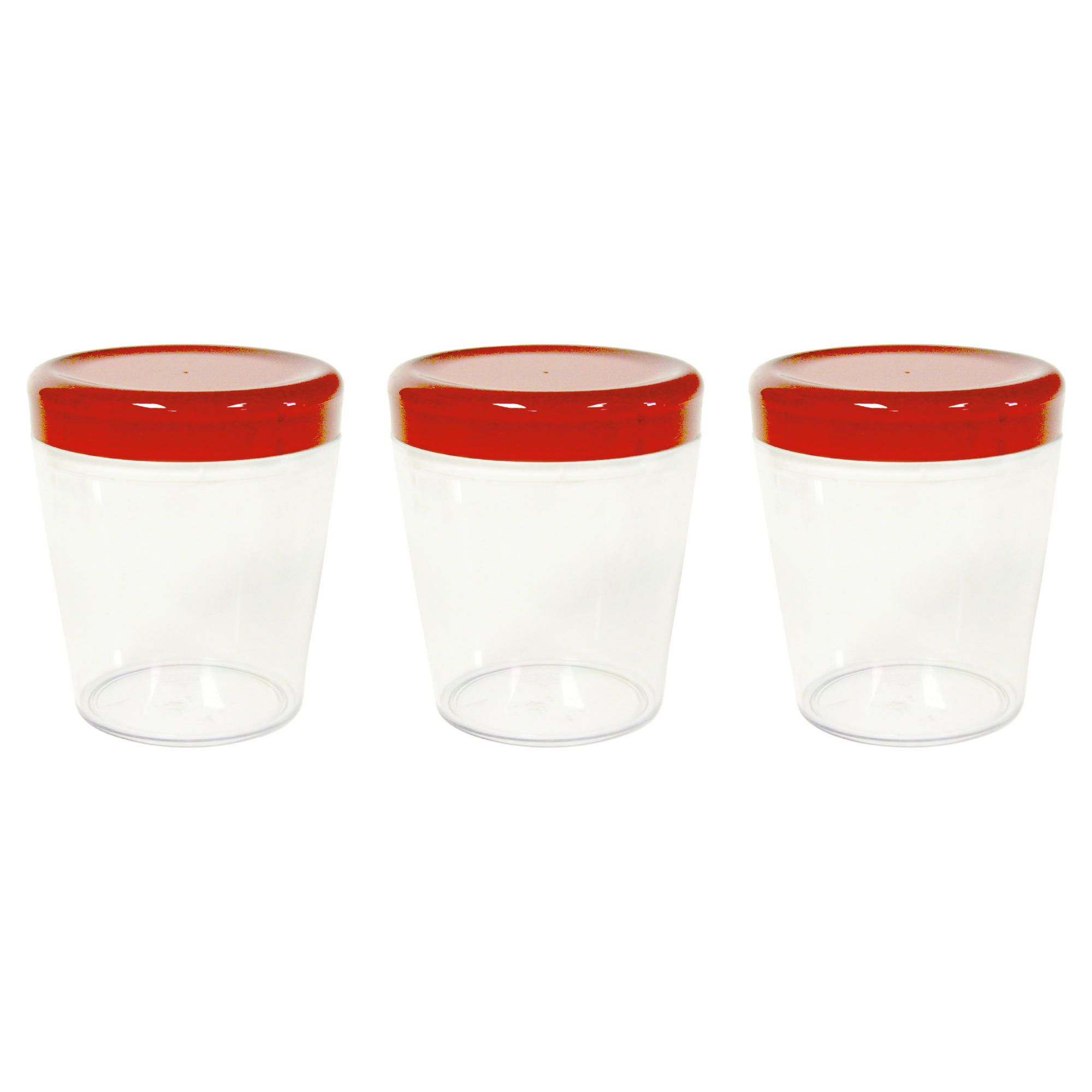 Omada Set of 3 0.75L Dune Storage Jars, Red