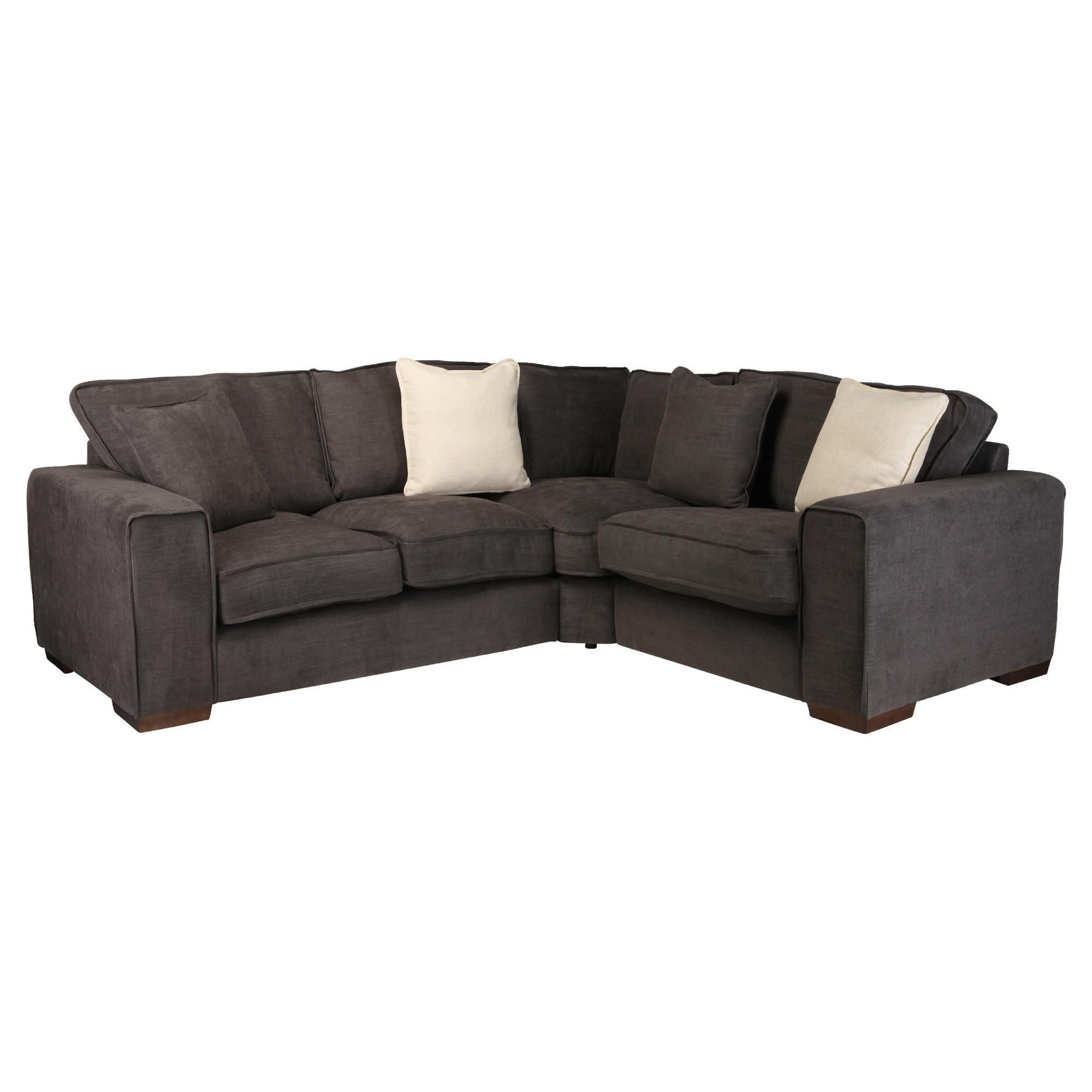 Omega Fabric Corner Sofa, Bark Right Hand Facing at Tesco Direct