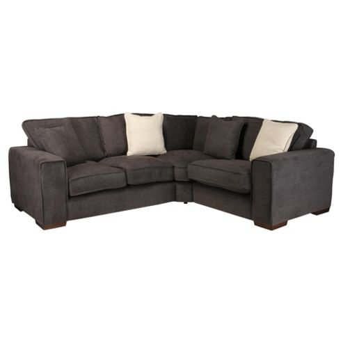 Omega Fabric Corner Sofa, Bark Right Hand Facing