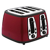 Russell Hobbs 18370 Heritage 4 Slice Toaster - Red