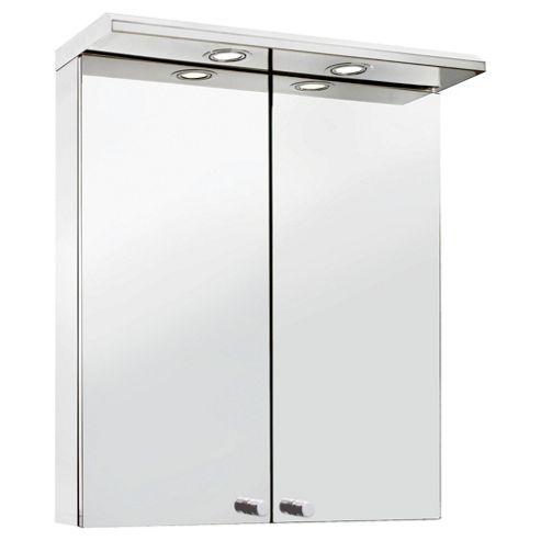 Croydex Stainless Steel Two Door Illuminated Cabinet