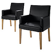 Banbury Carver Pair Of Chairs, Dark Brown