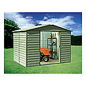 Yardmaster 9'4x12' Metal Shiplap Shed with floor support frame
