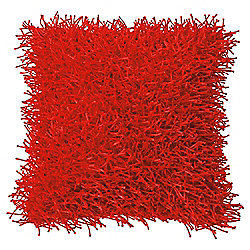 Buy FampF Home Glam Shaggy Cushion Red From Our Cushions