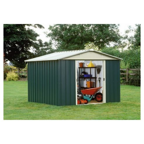 Yardmaster Metal Apex Shed with floor support frame, 10x8ft