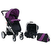 Petite Star Kurvi Match Purple Travel System & Free Ali Handle Car Seat