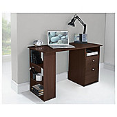 Isaac Straight Desk, Walnut Effect