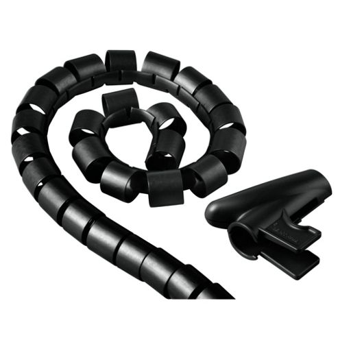 Hama Cable Bundle Tube Easy Cover - Black 2.5m 20 mm