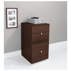 Isaac 2 Drawer Filer, Walnut Effect