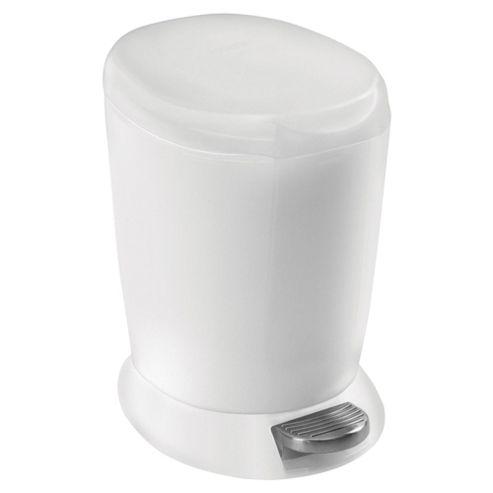 simplehuman 6 Litres Mini Plastic Pedal Bin - White