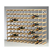George Wilkinson 90 Bottle Wine rack Kit - Pine / Galvanised Steel