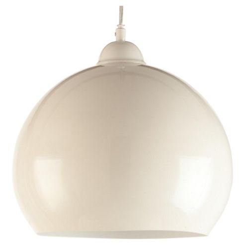 Tesco Lighting Skandia Metal Ceiling Fitting In Cream Gloss Finish