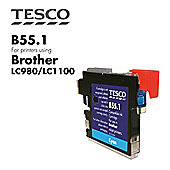Tesco LC980 Cyan Printer Ink Cartridge (for Brother LC-980 Cyan )