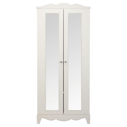 Angel Mirrored Wardrobe White