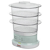 Food Steamer Chrome 3 Tier, 7 Litre Capacity.