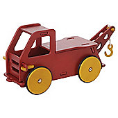 Moover Baby Wooden Toy Truck, Red
