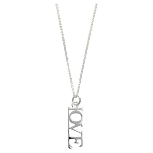 Sterling Silver 'Love' Pendant
